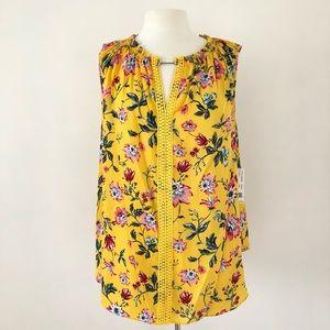 Zac & Rachel Woman Yellow Floral Top Size 2X New